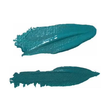varnish: Sea green smear vector brush stroke. Varnish splash line trace. Abstract shape oil paint.