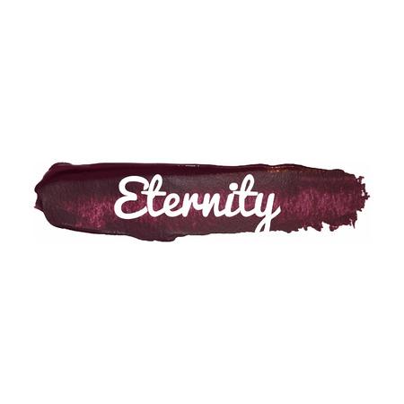 Eternity Vektor Wort Hand gezeichnete Illustration Symbol Karte getrennt Zitat Vektorgrafik