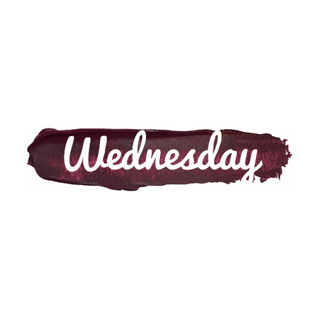 wednesday: Wednesday, day of the week. weekend vector word hand drawn illustration icon card isolated quote.