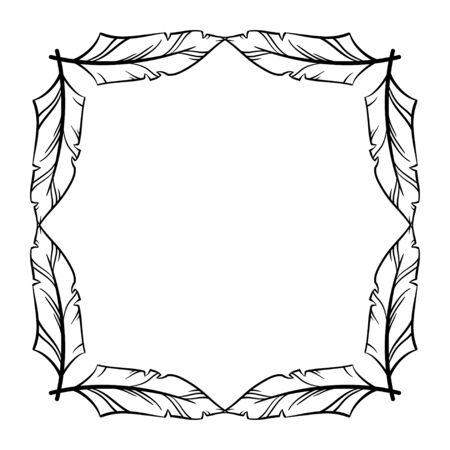 vector set icônes dessinés à la main illustration en noir et blanc Frame, collection de bordures décoratives.