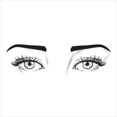 ver lineas negras en los ojos