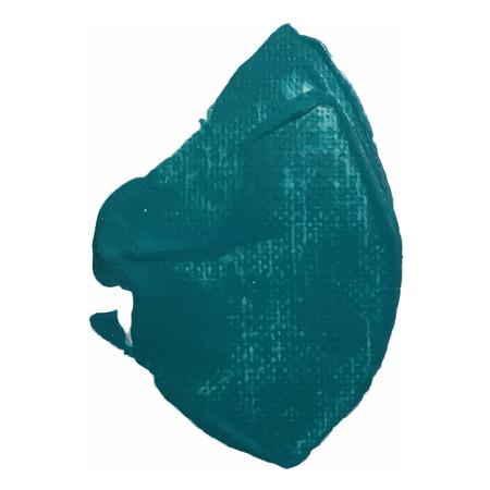 sea green: Sea green smear vector brush stroke. Varnish splash line trace. Abstract shape oil paint.