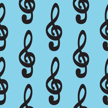 chiave di violino: Violino chiave icona modello disegnato a mano insieme vettoriale icona illustrazione Vettoriali