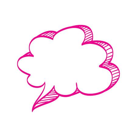 talk bubble: Hand drawn bubble cloud vector illustration. Illustration