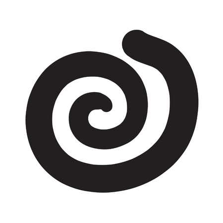 exclamation icon: Spiral icon, exclamation icon vector illustration