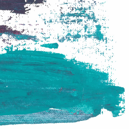 sea green: Vector abstract background brush stroke hand painted with paint sea green and violet