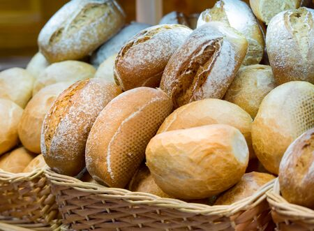 Freshly baked bread is in the basket