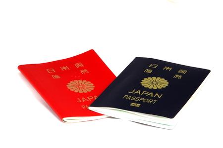 古いものと新しいパスポート 写真素材