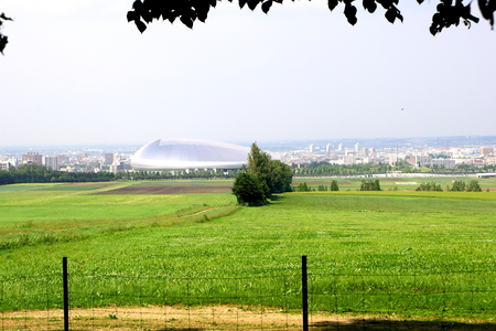 herbage: Hitsujigaoka Observaition Hill in Sapporo in Hokkaido, Japan