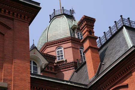 oficina antigua: Ex en la oficina de gobierno de Hokkaido en Sapporo, Jap�n. Foto de archivo