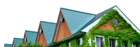 Interesting roof Stock Photo