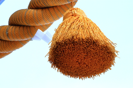 shinto: Decoration of straw rope shrine Stock Photo