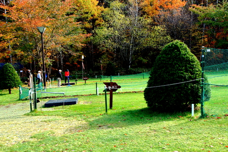 Park golf course in in in Hokkaido, Sapporo Hiraoka Park in autumn