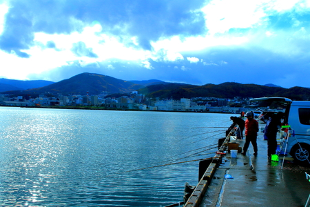 Scenery of the quay of Otaru