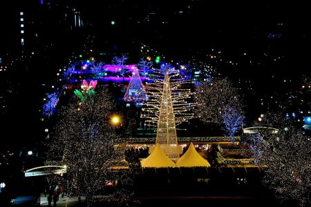 In the illumination scenery of Hokkaido, Sapporo Boulevard Park