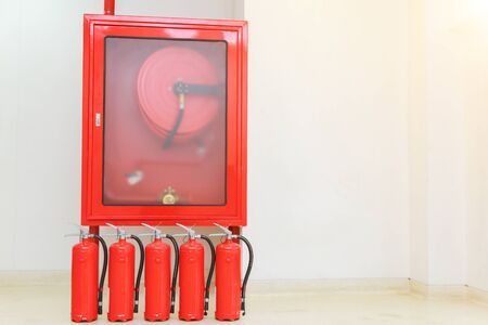 fire extinguishers available in fire emergencies. 免版税图像 - 149435411