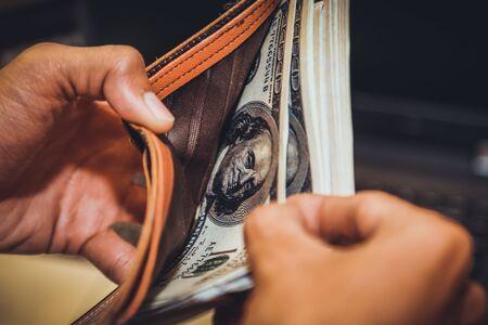Technology online banking money transfer, e-commerce concept. 写真素材