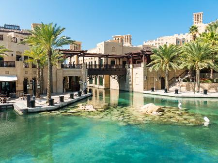 souq: DUBAI, UNITED ARAB EMIRATES - JAN 25, 2014: Madinat Jumeirah Resort and Souq in Dubai, United Arab Emirates