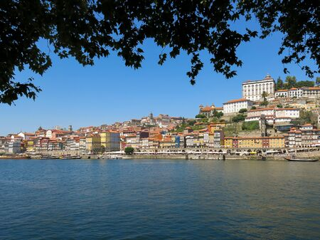ribeira: Ribeira District and quay alongside Douro River, Porto, Portugal