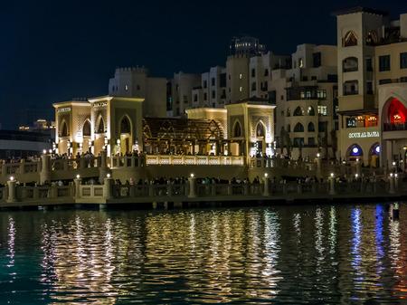 dubai mall: Bridge between Dubai Mall and Souk al Bahar in Downtown Dubai, United Arab Emirates Editorial