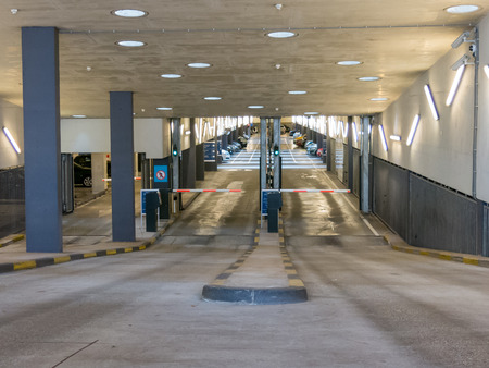 wtc: Entrance of parking garage World Trade Center Prinsenhof in The Hague Editorial