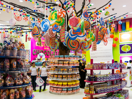 Candylicious candy store in Dubai Mall in downtown Dubai, United Arab Emirates