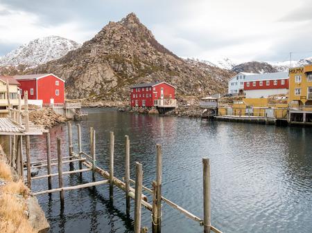fishing village: Fishing village Nyksund on Langoya Island - Vesteralen, Norway Stock Photo