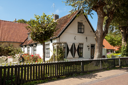 commander: Old Dutch commander house in the town of Hollum on the West-Frisian island Ameland, Netherlands