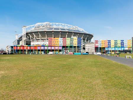 AMSTERDAM, NEDERLAND: 22 maart 2015: Arena en winkelboulevard in stadsdeel Zuidoost, Amsterdam, Nederland