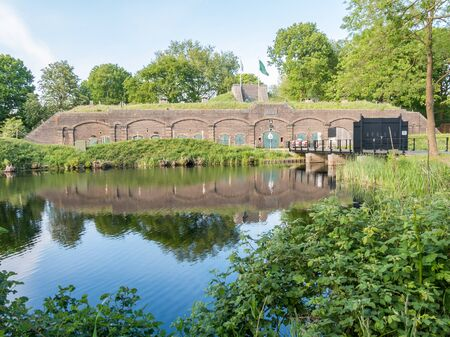 fortify: Fort Ruigenhoek in Groenekan near Utrecht, part of New Dutch Water Line, Netherlands