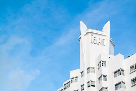 delano: Top of Delano Hotel on Collins Avenue in South Beach district of Miami Beach, Florida, USA
