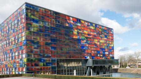 HILVERSUM, NETHERLANDS - APRIL 4, 2015: Sound and Vision Institute, the Dutch Media Museum on Media Park in Hilversum, the Netherlands