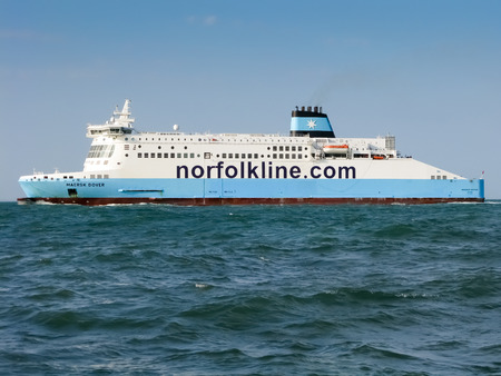 dover: Ferry of Norfolk Line crossing Dover Strait, North Sea, United Kingdom Editorial
