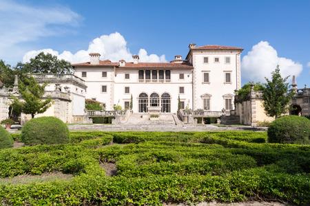 Villa Vizcaya North Facade From Museum Gardens In Coconut Grove ...