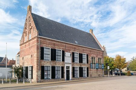 orphanage: Building of former orphanage on Breedeplaats in the city of Franeker, Friesland, Netherlands Editorial