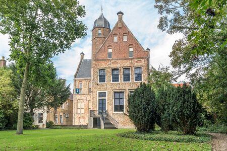Garden of Museum Martena in the city of Franeker, Friesland, Netherlands Editorial