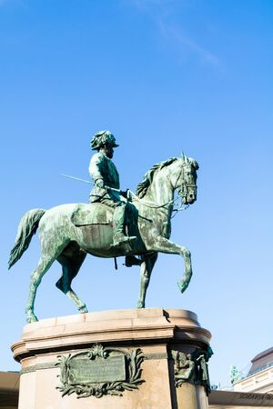 archduke: Equestrian statue of Archduke Albrecht in front of Albertina Museum in downtown Vienna, Austria