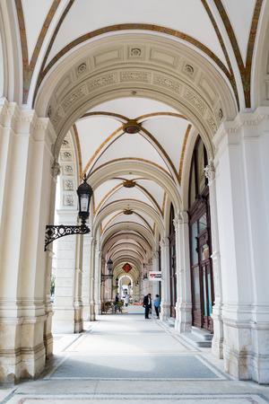 inner city: Arcade passage on Rathausplatz near Ringstrasse in inner city of Vienna, Austria