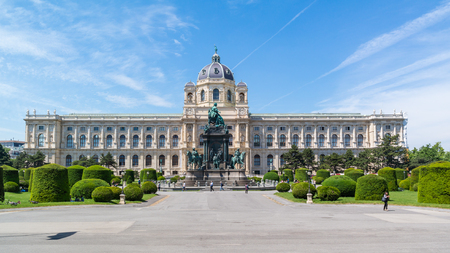 platz: Imperial Natural History Museum on Marie Theresien Platz near Ringstrasse in Vienna, Austria