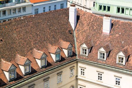 episcopal: Roof of Episcopal Palace from north tower of St. Stephens Cathedral in Vienna, Austria Editorial