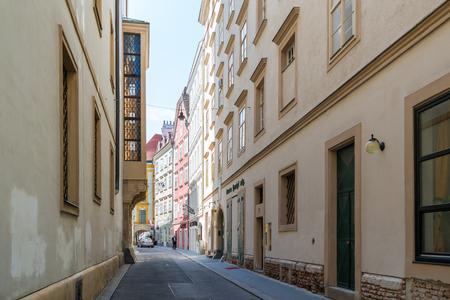 inner city: Schonlaterngasse street in inner city of Vienna, Austria Editorial