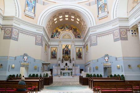 borromeo: Interior of Charles Borromeo Church Church or Karl Lueger Memorial Church on Central Cemetery in Vienna, Austria