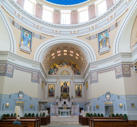 st charles: Interior of Church of St. Charles Borromeo or Karl Lueger Memorial Church on Central Cemetery in Vienna, Austria Editorial