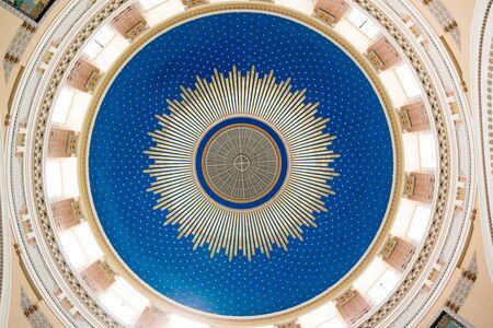 borromeo: Dome of Charles Borromeo Church or Karl Lueger Memorial Church on Central Cemetery in Vienna, Austria Editorial