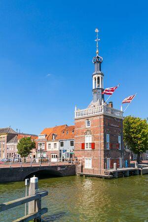 excise: Accijnstoren, excise tower, now harbour office in Alkmaar, North Holland, Netherlands Editorial