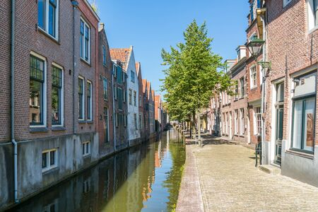 Houses and quay of Kooltuin canal in Alkmaar, North Holland, Netherlands