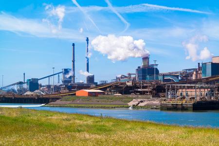 ijmuiden: Steelmaking industry and North Sea Canal in IJmuiden near Amsterdam in Netherlands Editorial