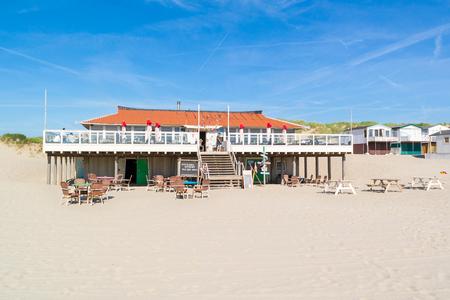 ijmuiden: Beach restaurant pavilion in IJmuiden, North Holland, Netherlands