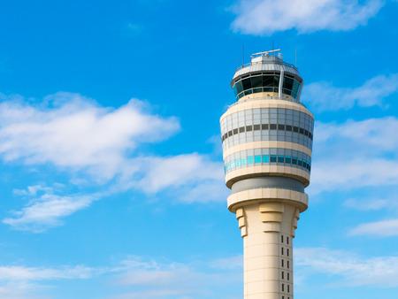 control tower: Top of air traffic control tower at Hartsfield-Jackson international airport, Atlanta, Georgia, USA