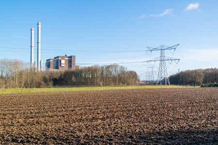 rwe: Power station Clauscentrale near Maasbracht in the province of Limburg, Netherlands